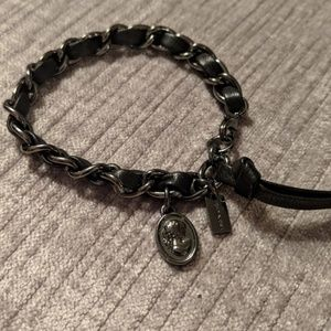 Coach Leather Chain Bracelet